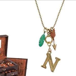 "Monogram Letter ""N"" Charm Necklace on 30"" Chain"